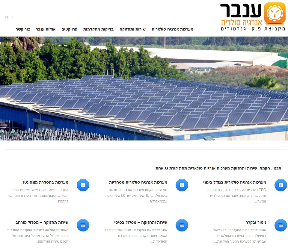 אתר אינטרנט חדש לענבר