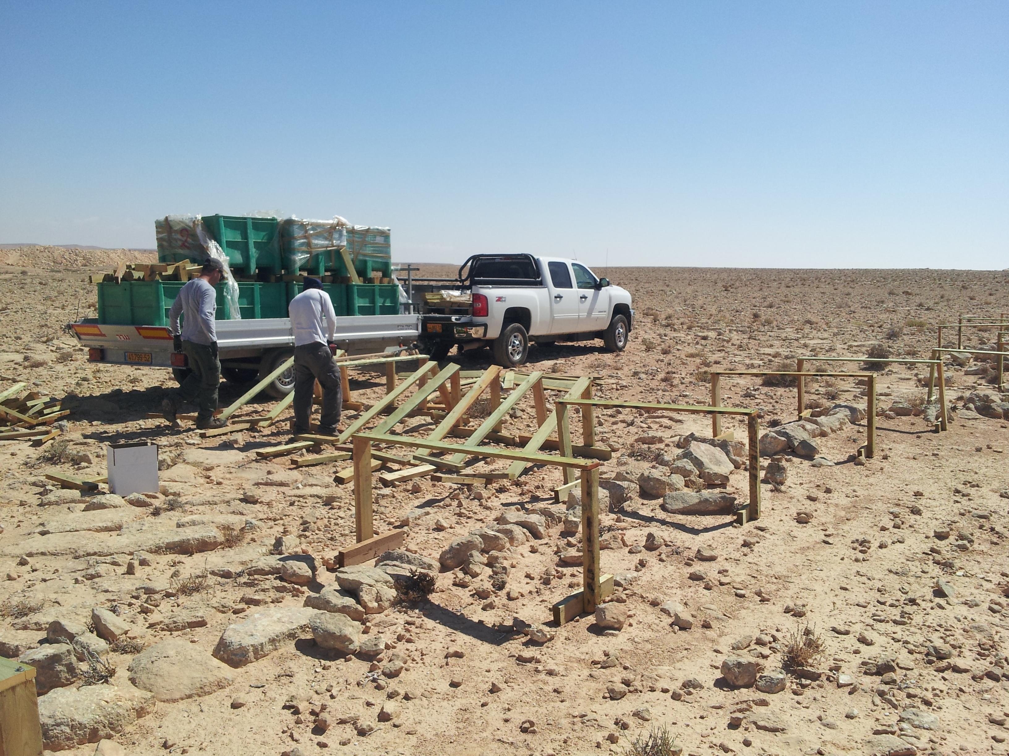 עבודות התשתית להקמת מערכת אנרגיה סולארית קרקעית במצפה רמון