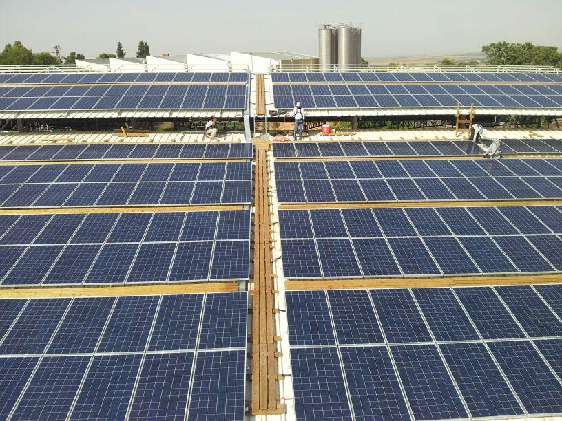 הקמת מערכת אנרגיה סולארית בקיבוץ גבים
