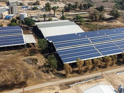 מערכת סולארית מונה נטו – קיבוץ גבים, 636 קילו וואט