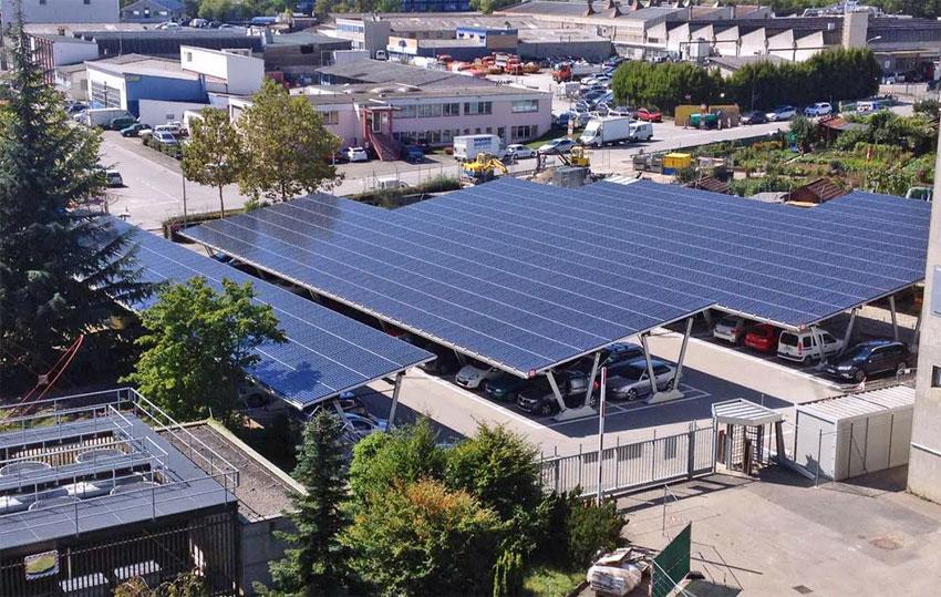 חניונים סולאריים - מערכות אנרגיה סולאריות - ענבר אנרגיה סולארית